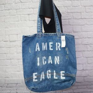 NWT American Eagle Distressed Laptop Tote Bag